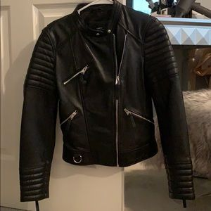 NWOT Zara Genuine Leather Jacket - Size S